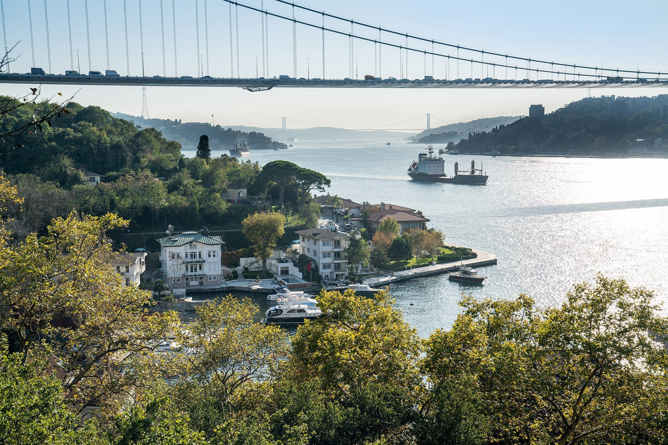 A view of the Bosporus from the Mihrabat Nature Park. (Shutterstock Photo)