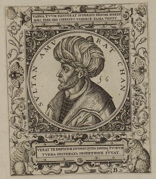 A depiction of Ottoman Sultan Murad I. (Wikimedia Photo)