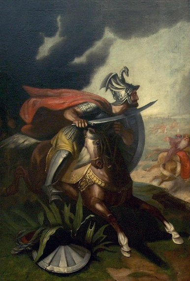 A painting of Serbian knight Milos Obilic. (Wikimedia Photo)