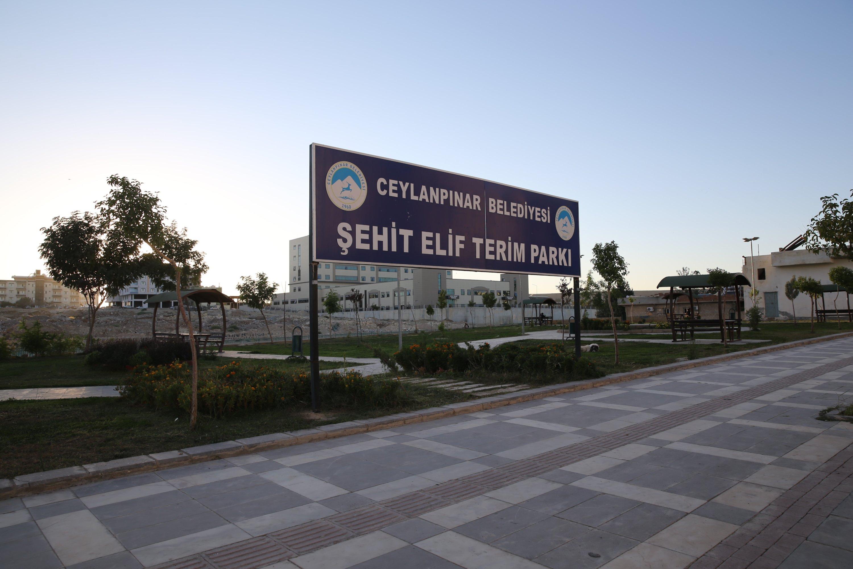The park named after Elif Terim in Ceylanpınar, Şanlıurfa, Turkey (AA Photo)