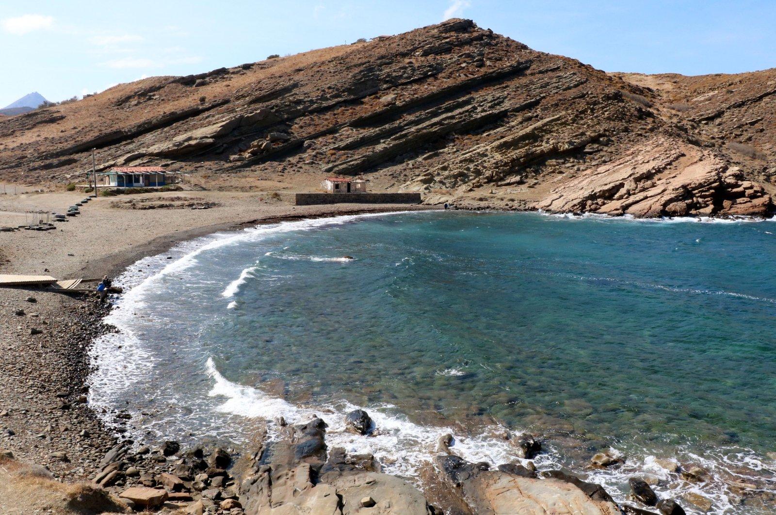 A view of Yıldız Cove, in Gökçeada island, in Çanakkale, western Turkey, Oct. 7, 2021. (DHA PHOTO)
