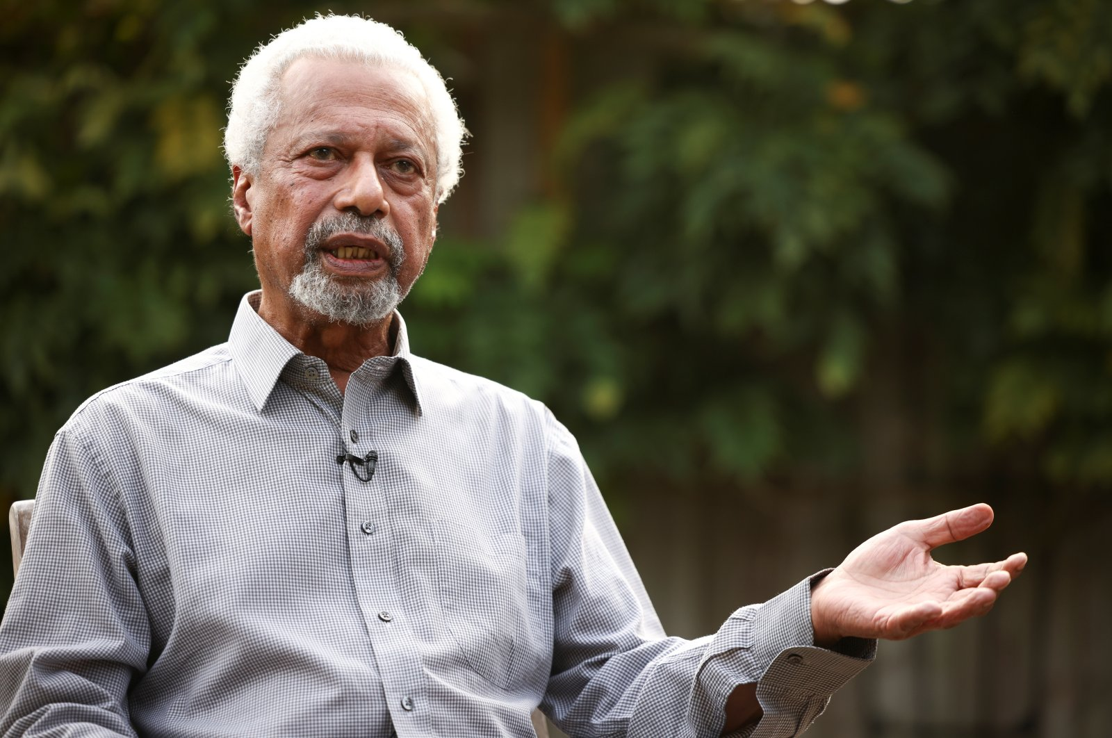 Tanzanian novelist Abdulrazak Gurnah, winner of the 2021 Nobel Prize for Literature, during an interview with Reuters at his home in Canterbury, Britain, Oct. 7, 2021. (Reuters Photo)