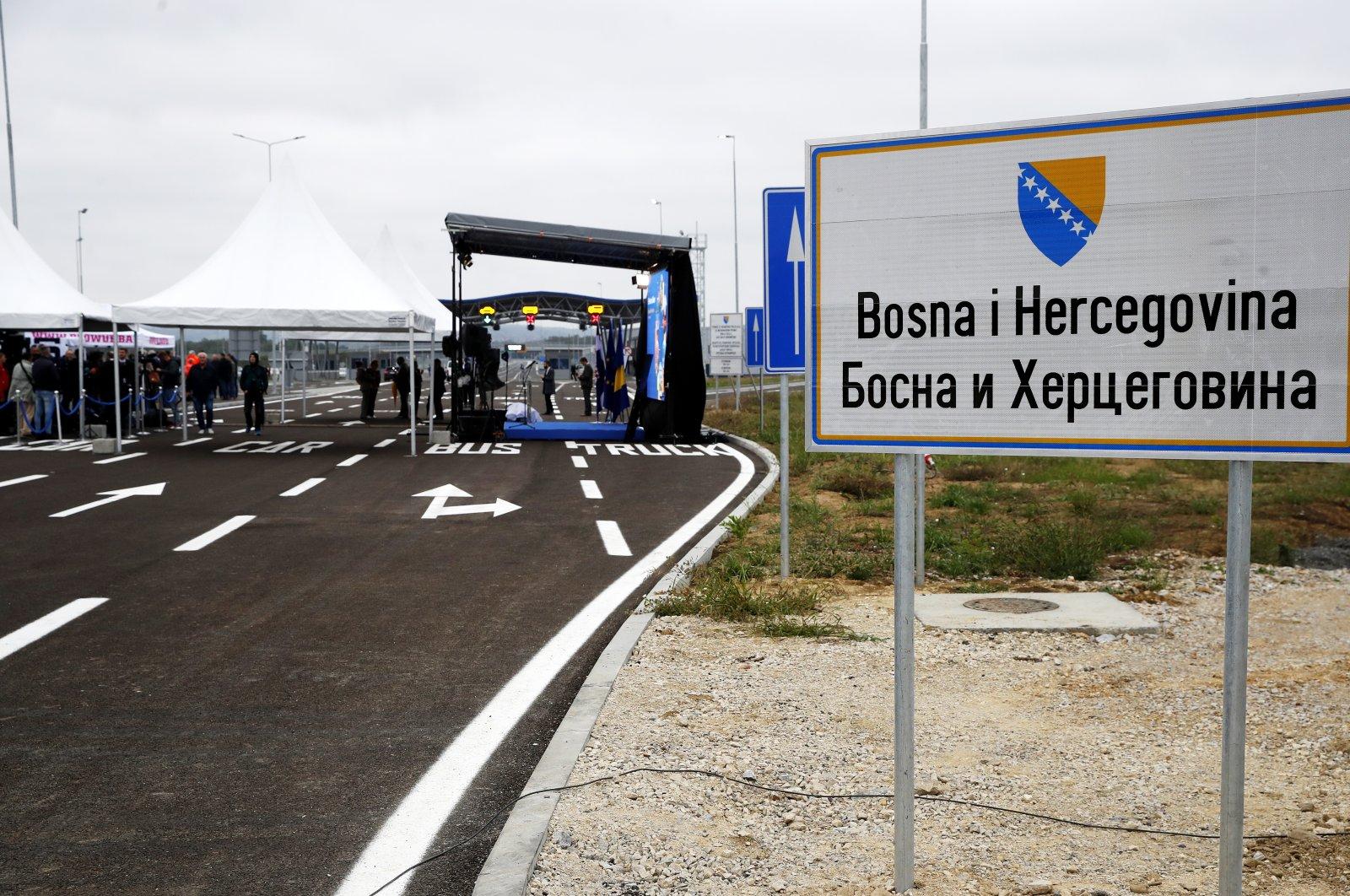 The new border crossing between Croatia and Bosnia and Herzegovina near Svilaj town, Croatia, Sept. 30, 2021. (EPA Photo)