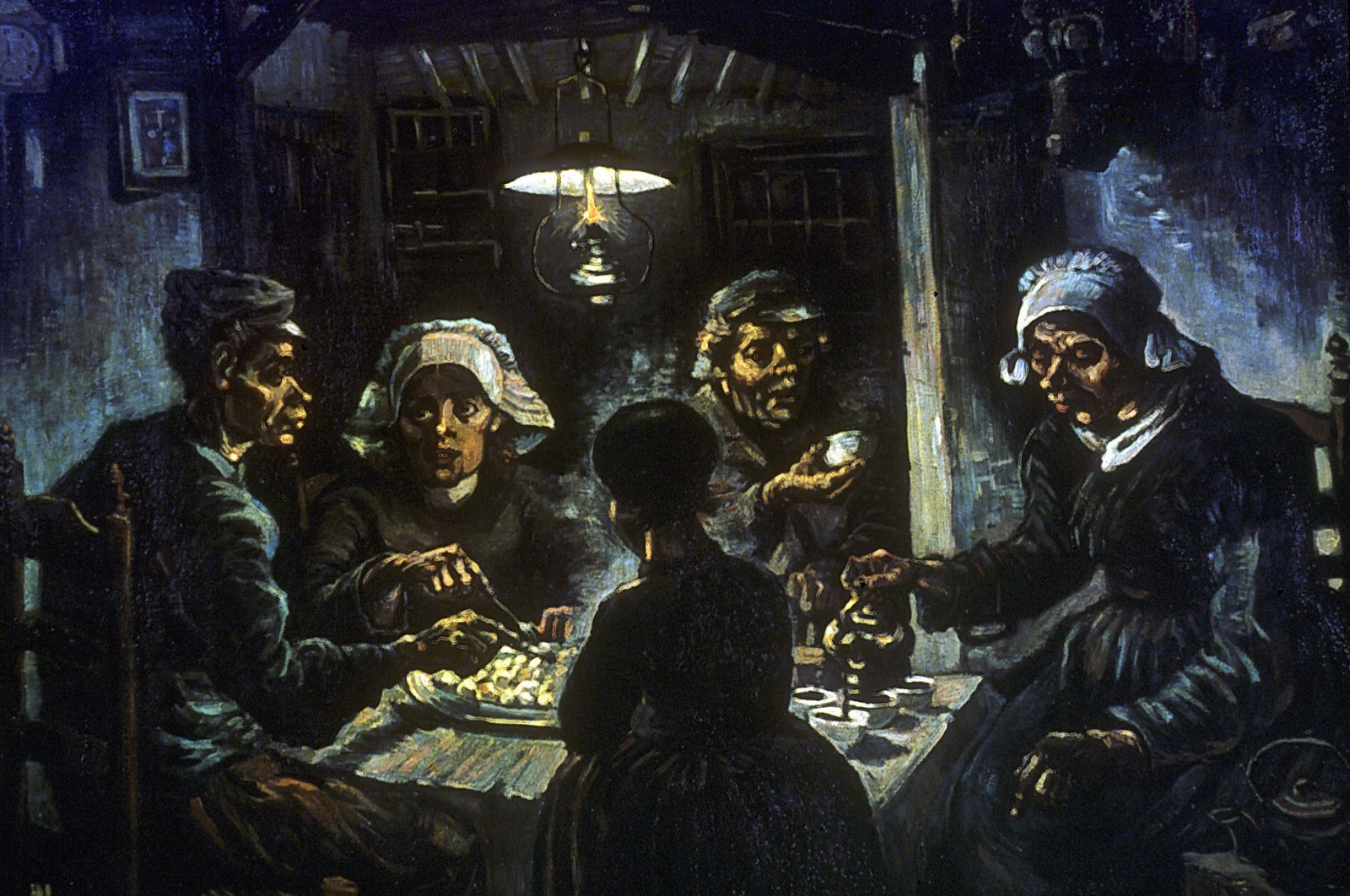 """Iconic 19th-century artist Vincent Van Gogh's painting """"The Potato Eaters."""" (Getty Images)"""
