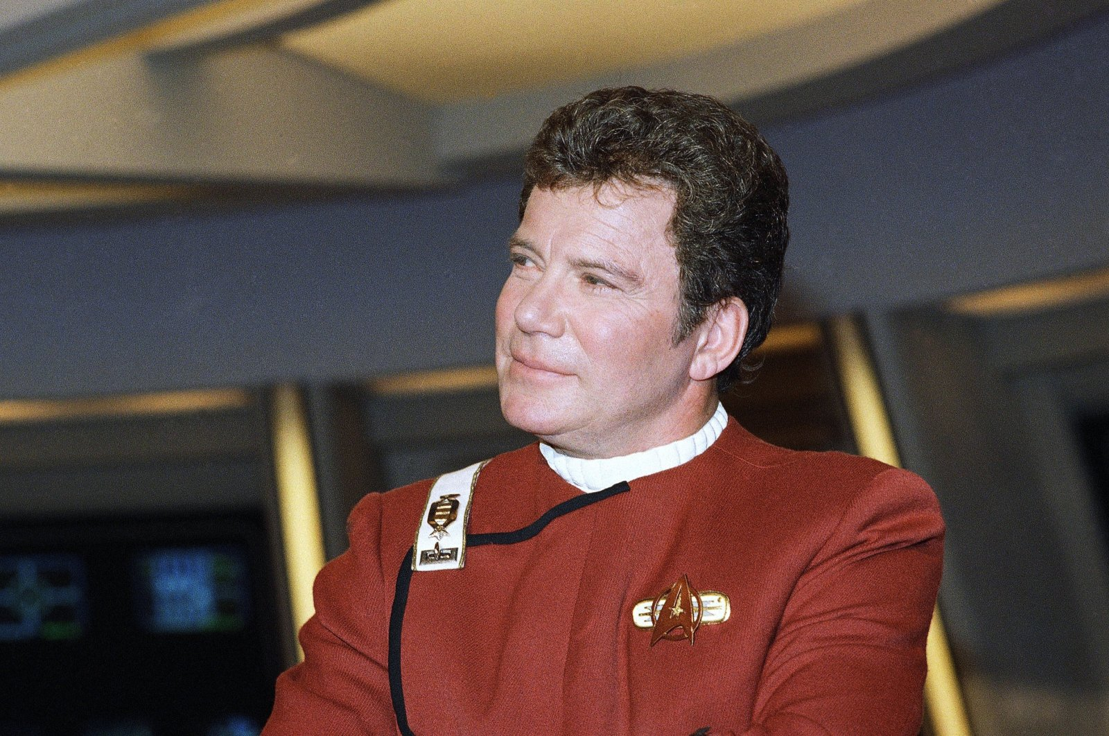 """In this 1988 file photo, William Shatner, who portrays Capt. James T. Kirk, attends a photo opportunity for the film """"Star Trek V: The Final Frontier."""" (AP File Photo)"""