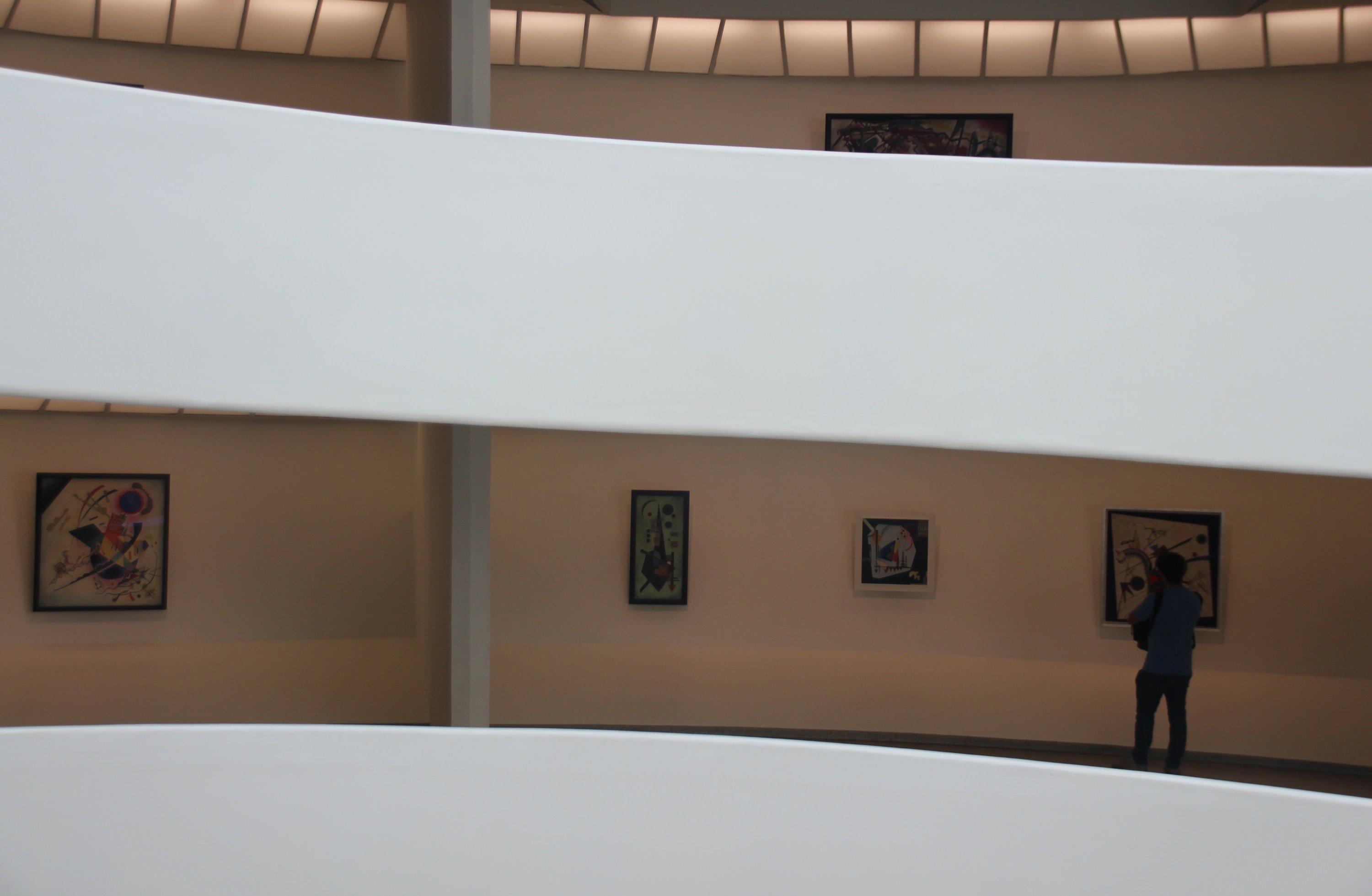 New York's Guggenheim museum has filled the walls of its famous upward spiral with more than 80 works by the Russian artist Wassily Kandinsky. (DPA Photo)