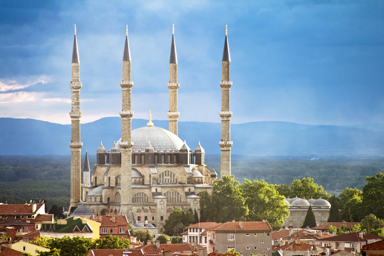 A view from Selimiye Mosque, Edirne, northwestern Turkey. (Getty Images)