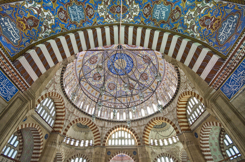 An interior view from Selimiye Mosque, Edirne, northwestern Turkey. (Getty Images)