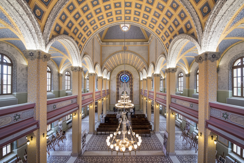 An interior view from the Grand Edirne Synagogue, Edirne, northwestern Turkey. (Getty Images)