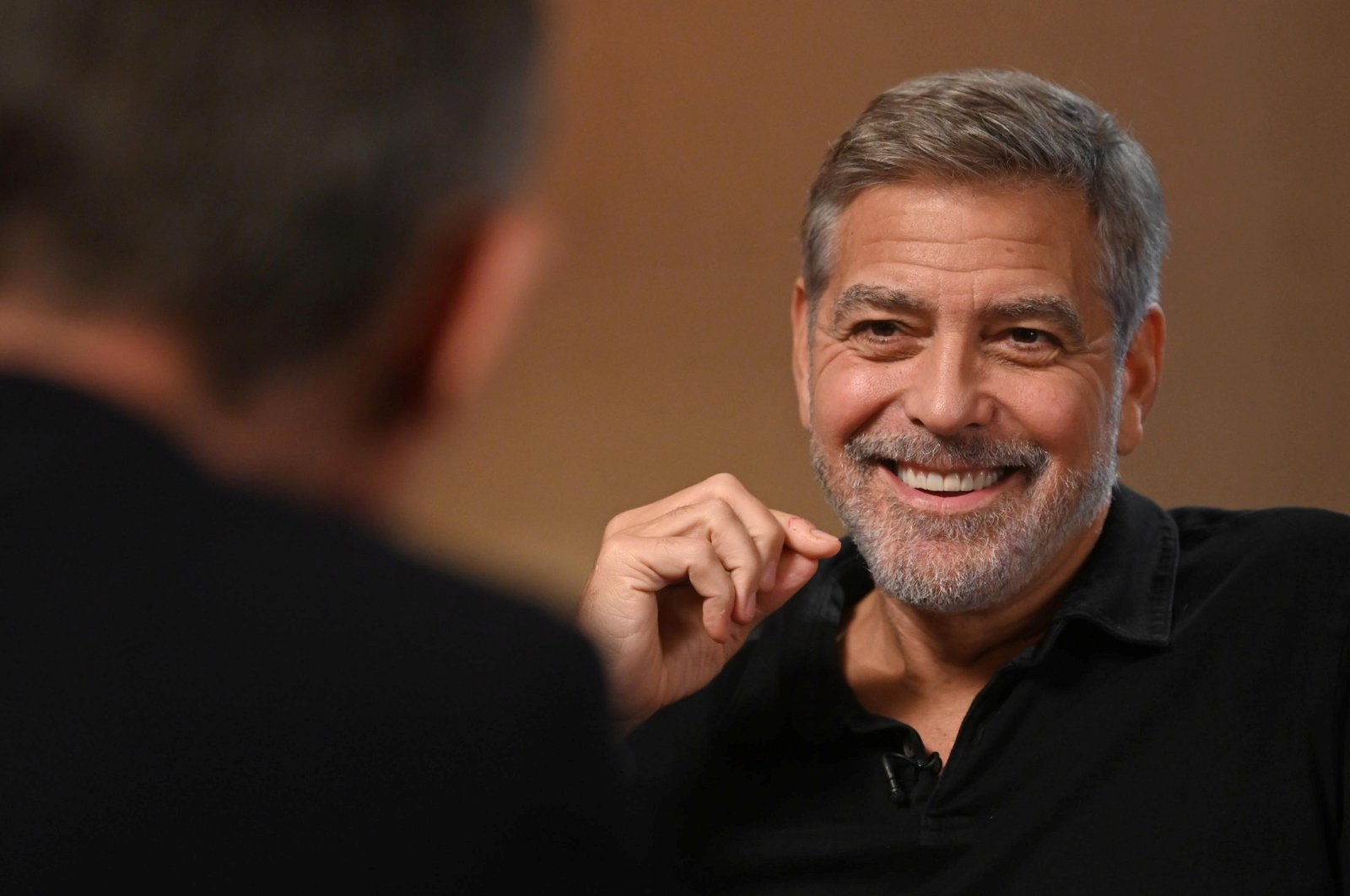 Actor George Clooney appears as a guest on the Andrew Marr Show at the BBC Broadcasting House in Manchester, U.K., Oct. 10, 2021. (BBC via Reuters)