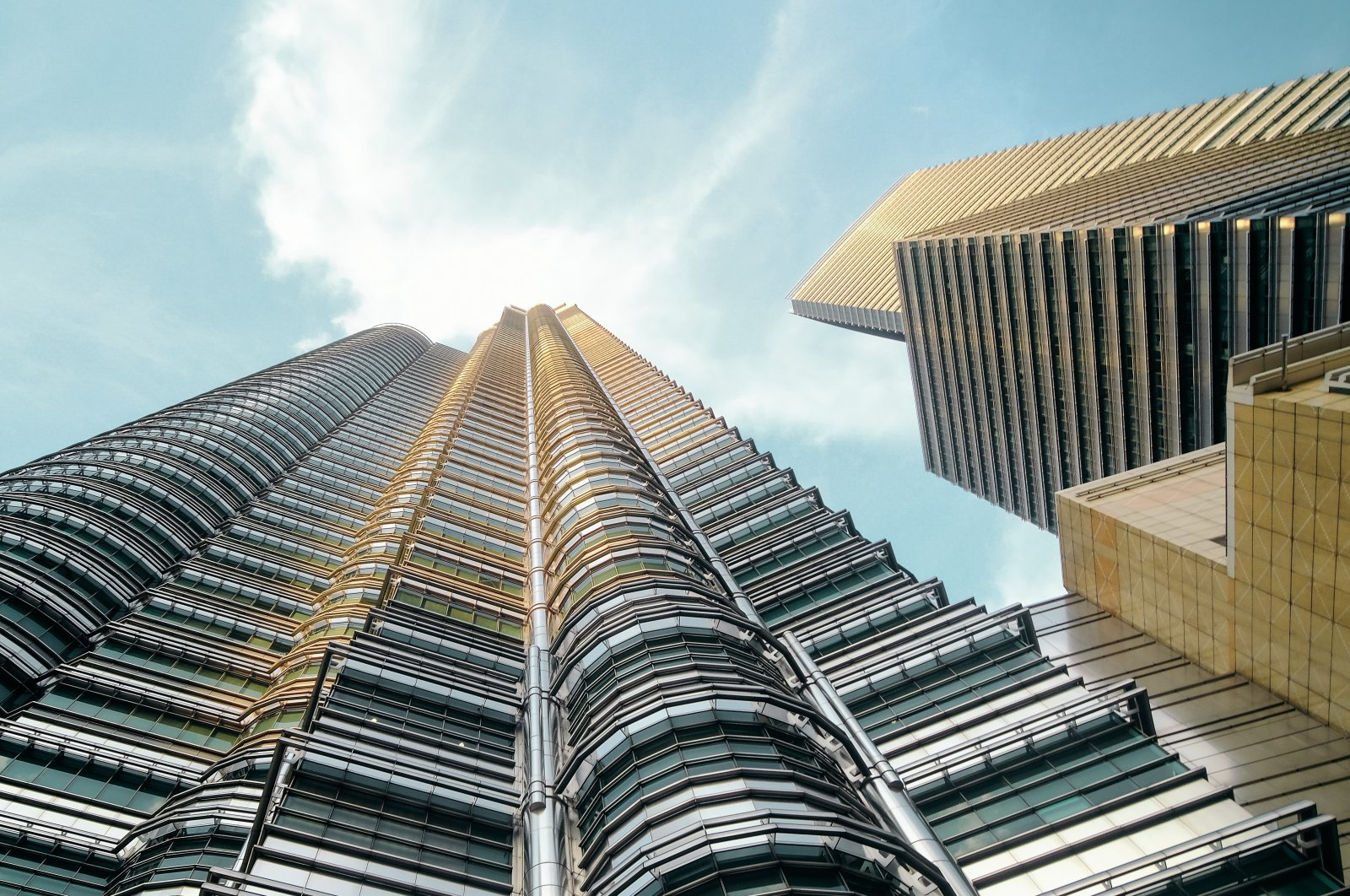 Low angle view of the Petronas Twin Towers in Kuala Lumpur, Malaysia (Getty Images)