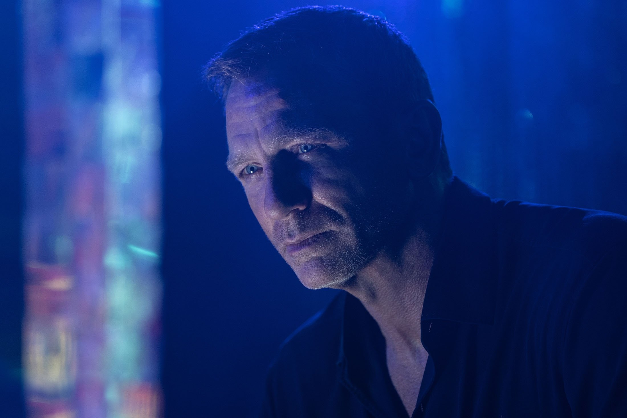 Daniel Craig as James Bond, in a scene from the film 'No Time To Die.' (Metro Goldwyn Mayer Pictures via AP)