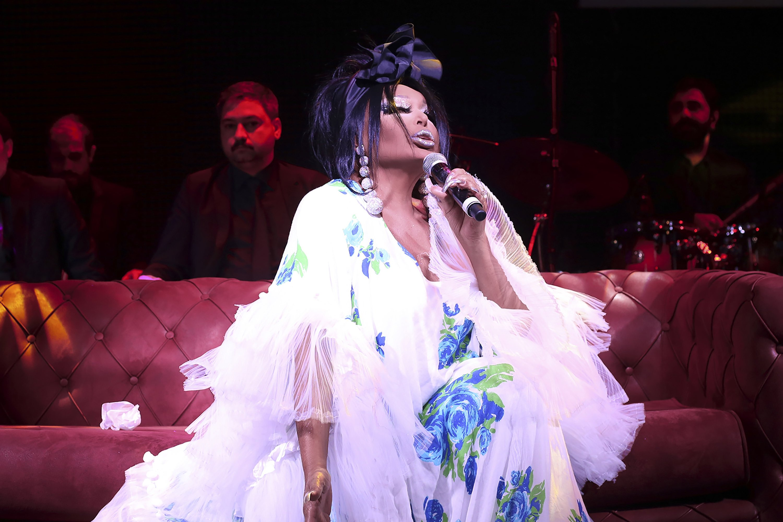 Bülent Ersoy performs on stage at the Jolly Joker Bursa venue, in Bursa, Turkey. (Archive Photo)