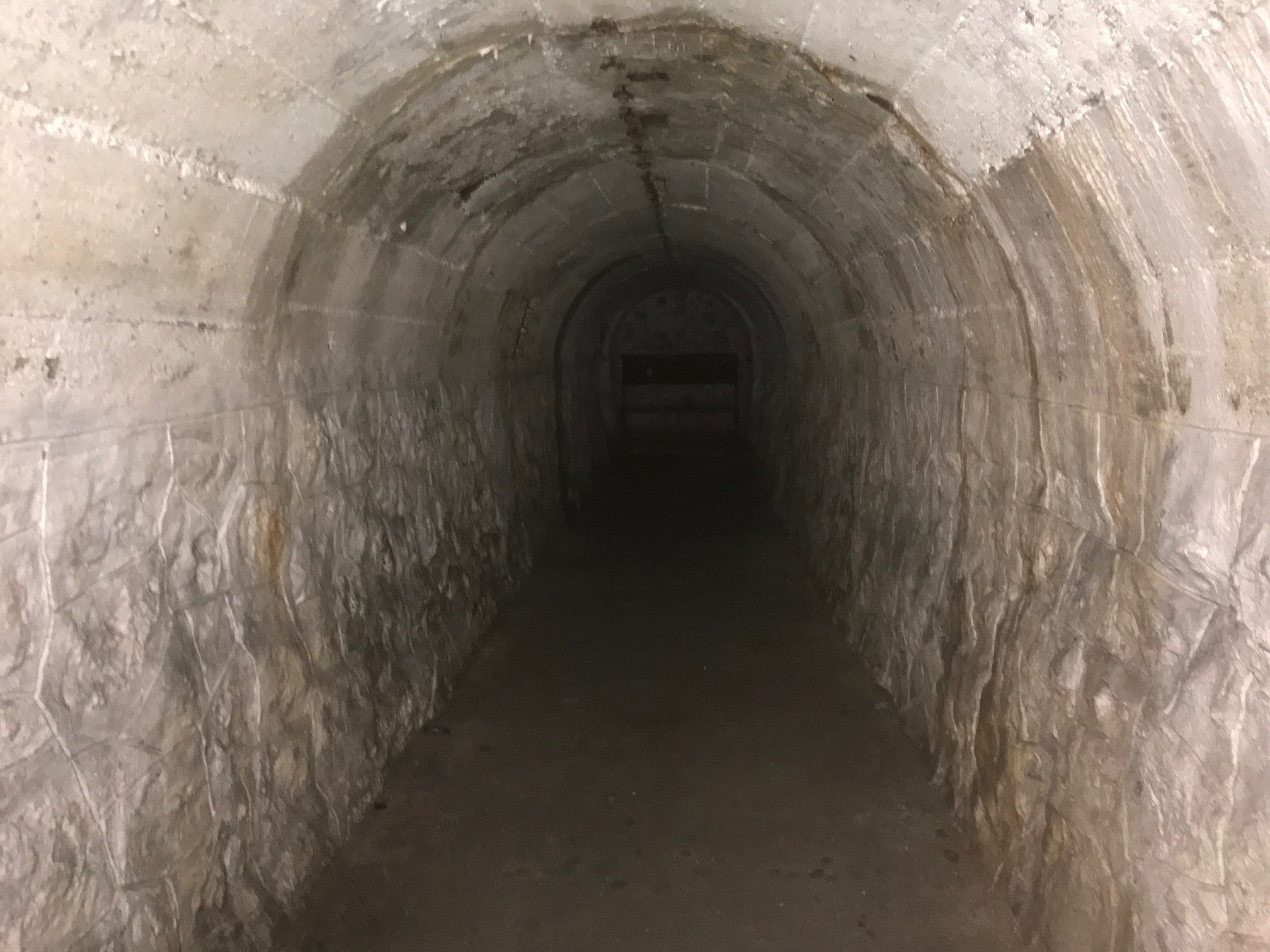 A bunker is seen at the Haydarpaşa excavation area in Kadıköy, Istanbul, on Oct. 12, 2021. (DHA Photo)