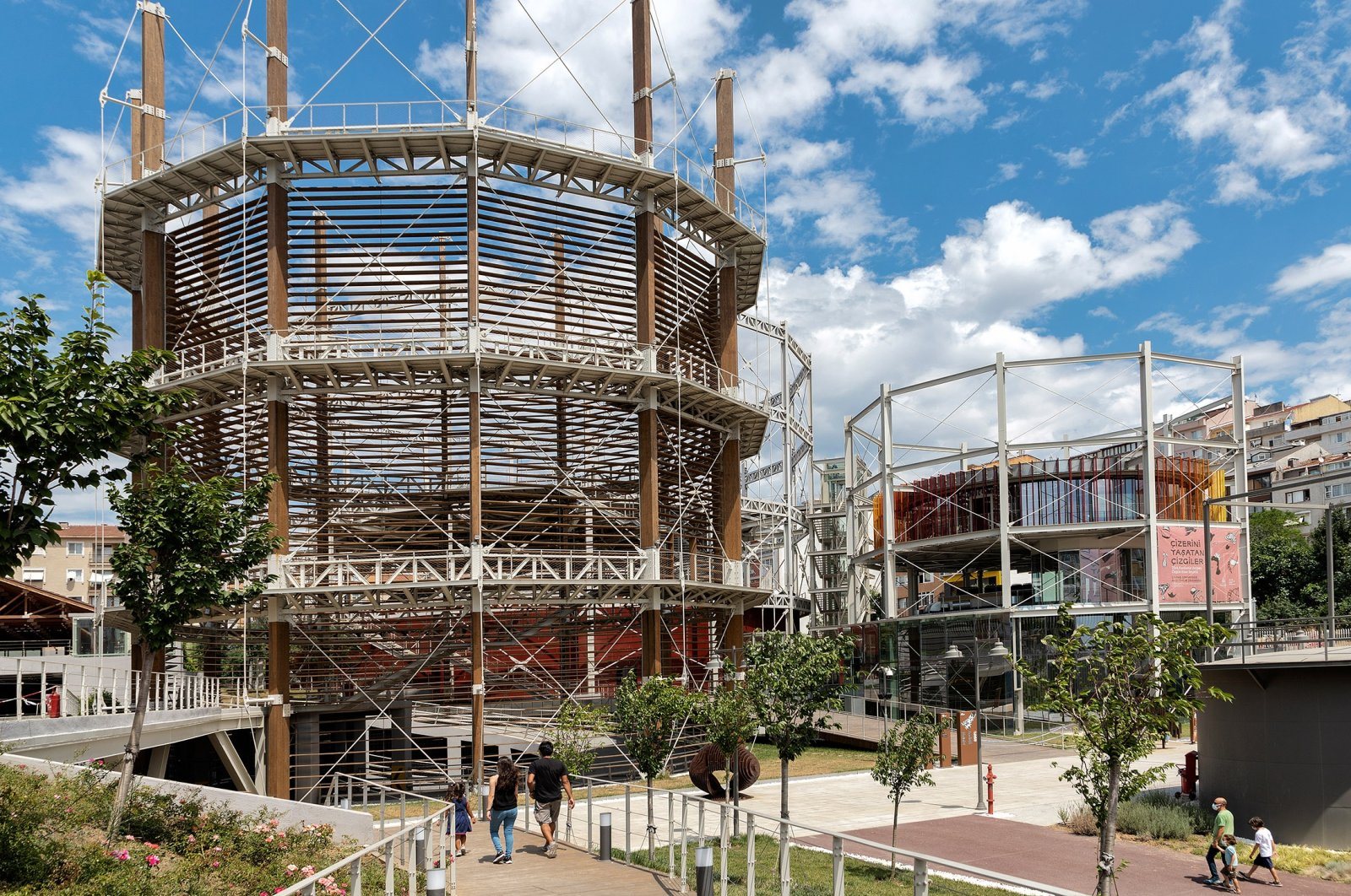 The historical Hasanpaşa Gasworks, which was built in 1892, was restored and turned into a Culture and Art Center. (Shutterstock Photo)
