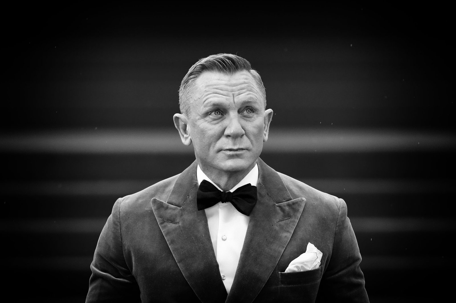 """Daniel Craig attends the World Premiere of the James Bond film, """"No Time To Die,"""" at the Royal Albert Hall, in London, U.K., Sept. 28, 2021. (Getty Images)"""