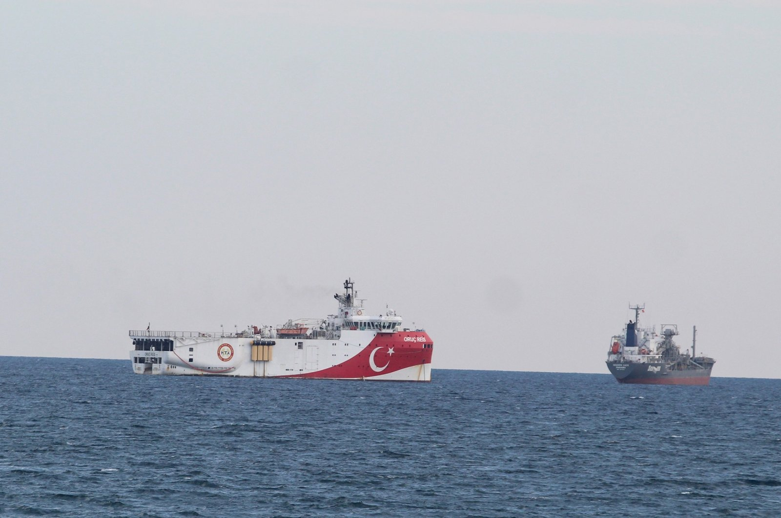 The Oruç Reis Seismic Exploration Vessel in the Eastern Mediterranean in this undated photo. (IHA File Photo)