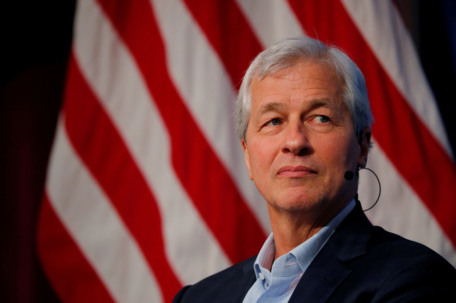 Jamie Dimon, CEO of J.P. Morgan Chase, takes part in a panel discussion about investing in Detroit during a panel discussion at the Kennedy School of Government at Harvard University in Cambridge, Massachusetts, U.S., April 11, 2018. (Reuters File Photo)