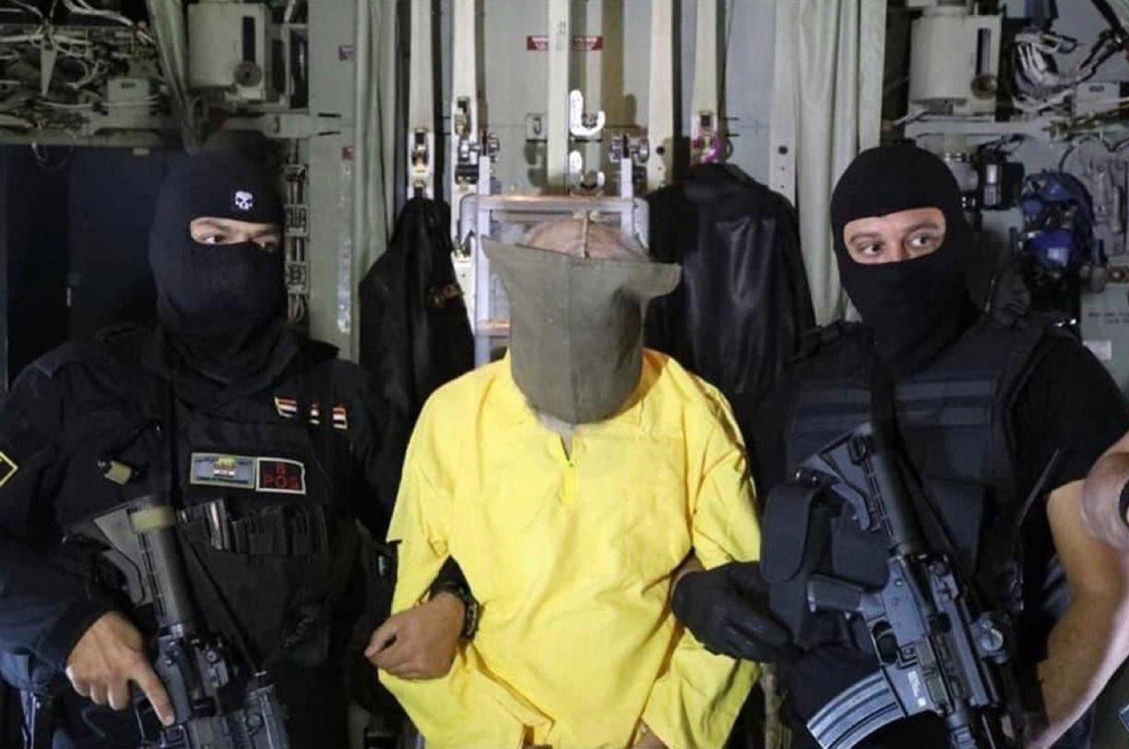 Sami Jasim, a general supervisor of the financial files for Daesh, is arrested by Iraqi security forces, during a special security operation in an unnamed country, Oct. 11, 2021. (EPA Photo)