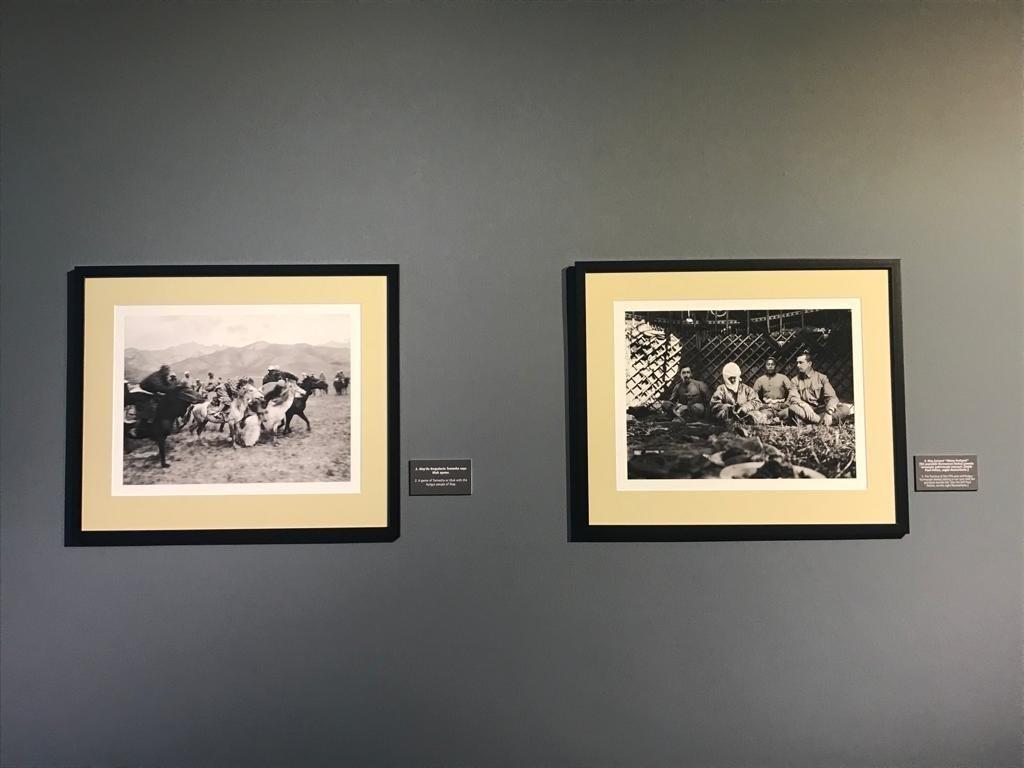 Photos depicting Carl Gustav Emil Mannerheim's journey through Central Asia are seen at CerModern, Ankara, Turkey, Oct. 12, 2021 (Photo by Dilara Aslan)