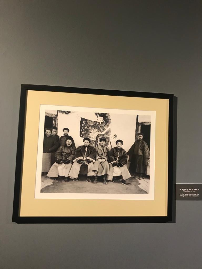Photos depicting Carl Gustav Emil Mannerheim's journey through Central Asia are seen at CerModern, Ankara, Turkey, Oct. 12, 2021. (Photo by Dilara Aslan)