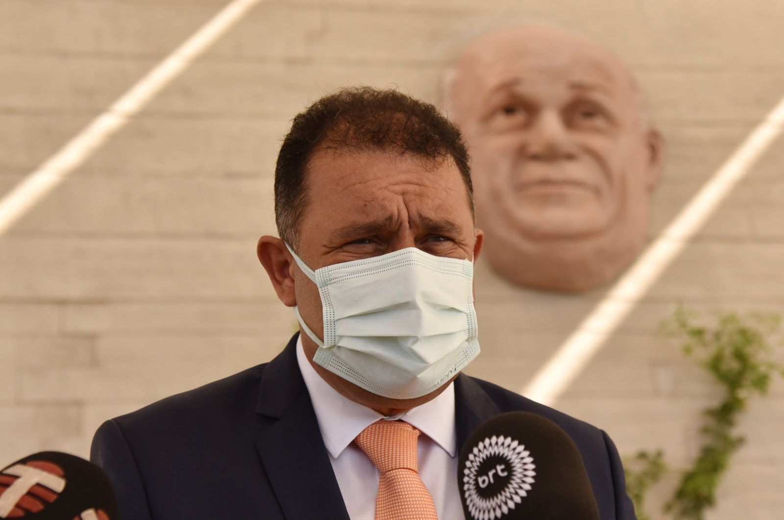 Turkish Cyprus' Prime Minister Ersan Saner in Lefkoşa (Nicosia), TRNC, Oct. 6, 2021. (AA Photo)