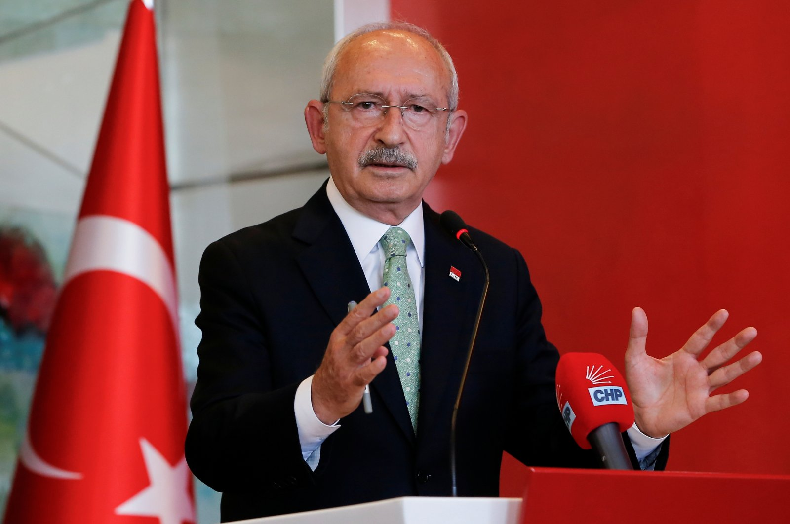 Kemal Kılıçdaroğlu, the leader of the main opposition Republican People's Party (CHP), speaks during a news conference in Ankara, Turkey, Oct. 11, 2021. (Reuters Photo)