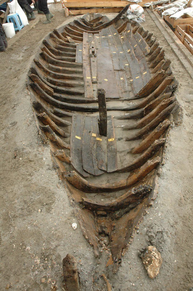 Remains of a ship found in Yenikapı, Istanbul, Turkey. (Sabah File Photo)