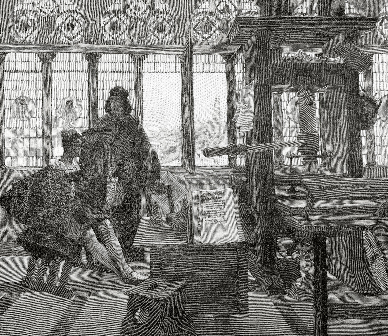 The Aldine Press founded by Aldus Pius Manutius in (1449-1515) in Venice. (Getty Images)