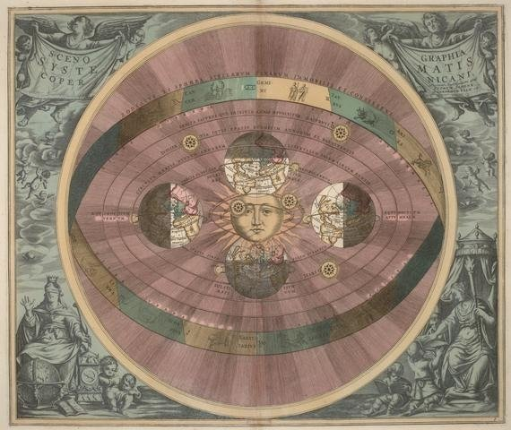 Dutch German cartographer Andreas Cellarius's illustration of the Copernican system. (Wikimedia Photo)