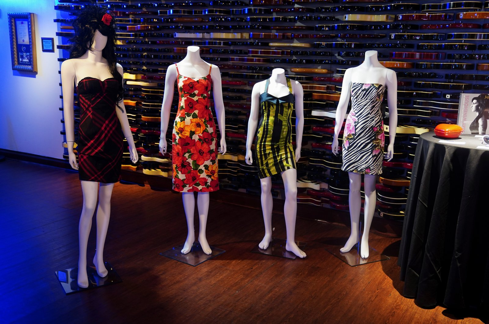 Dresses worn by Amy Winehouse are pictured at a preview for an auction of her personal items on the 10th anniversary of her death in the Manhattan borough of New York City, New York, U.S., Oct. 11, 2021. (REUTERS Photo)